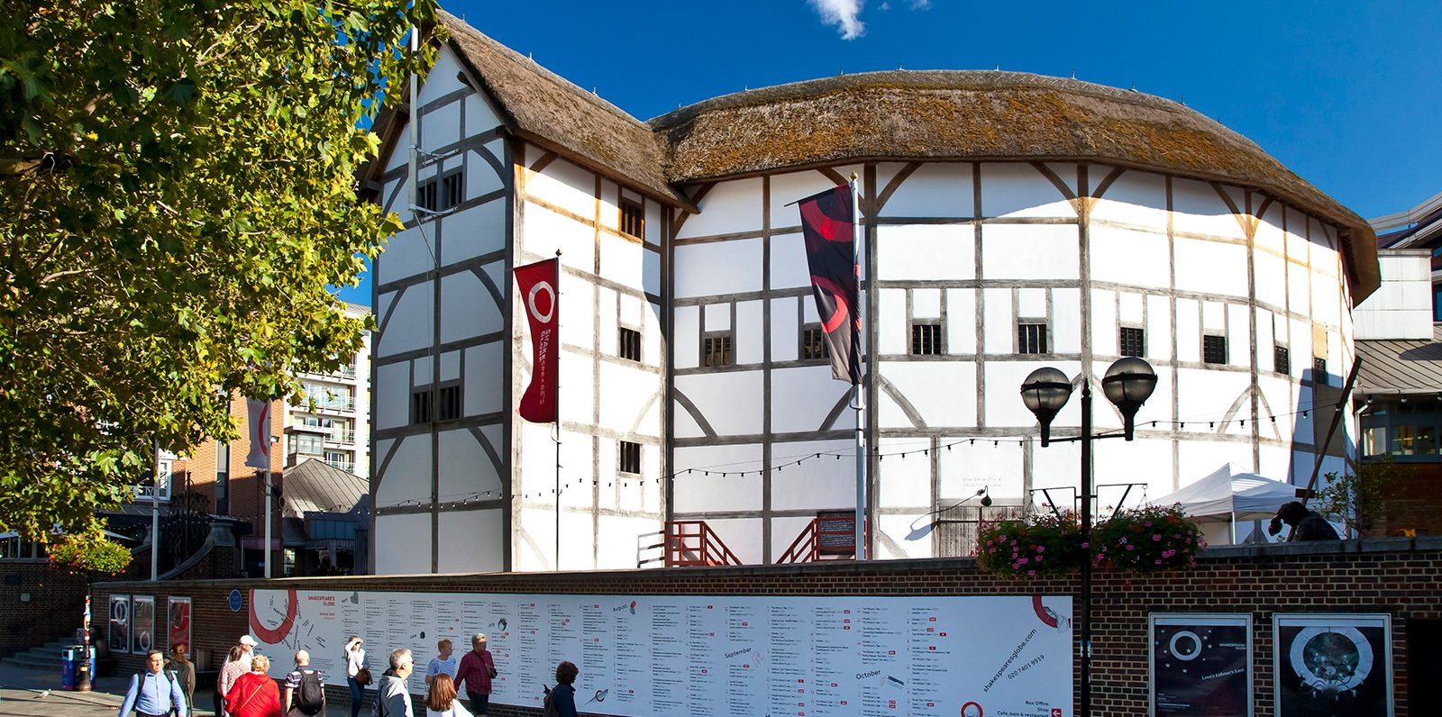 Exterior photograph of the Globe Theatre