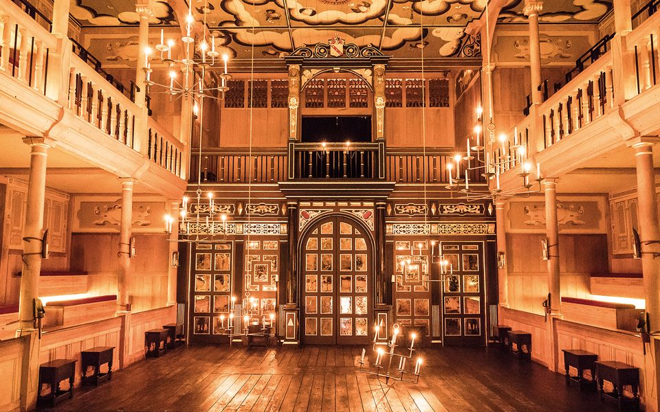 Sam Wanamaker Playhouse interior for Macbeth in 2018